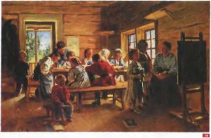 76. Маковский В.Е. В сельской школе. 1883. М.
