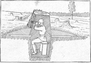 """Рис. 21. Наблюдательный пункт в """"пне"""""""