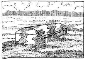 Рис. 22. Пример имитирующей окраски ангара