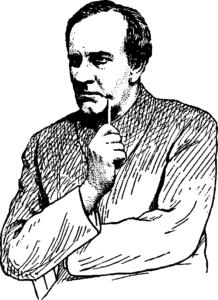 Рис. 31. Мимика внимания (народный артист СССР В. И. Качалов)